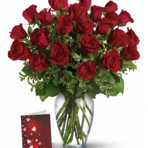 24 Roses Rouges & Carte buy at Fleur Quebec