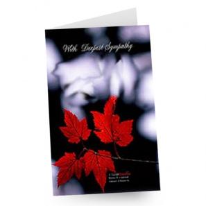 Sympathy card buy at Fleur Quebec