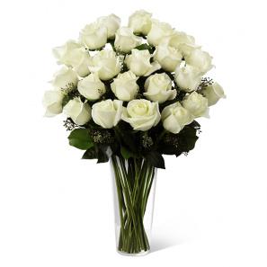 2 Douzaines longues tiges de Roses Blanches buy at Fleur Quebec